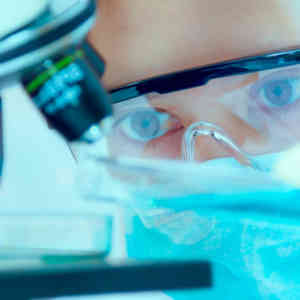 scientist with equipment and science experiments ,Laboratory glassware containing chemical liquid, science research,science background and science concept and selective focus.