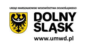 """logo i napis """"Urząd marszałkowski województwa dolnośląskiego - dolny śląsk www.umwd.pl """""""