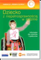 okładka broszury - Dziecko z niepełnosprawnością w rodzinie